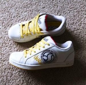 DVS Adora Skating Shoes white yellow blue sneakers